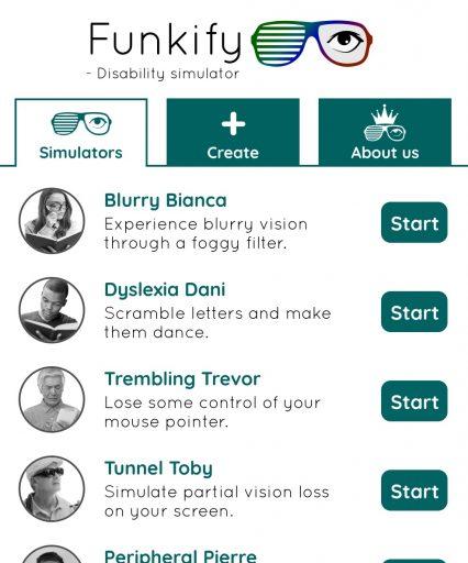 Funkify Disability Simulator